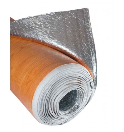 Apm6 rollo aislante t rmico color madera clara for Aislante para tejados